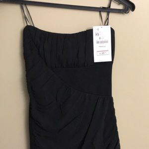 Zara Sleeveless Black Mini Dress